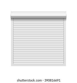 Window roller shutters. Vector illustration.