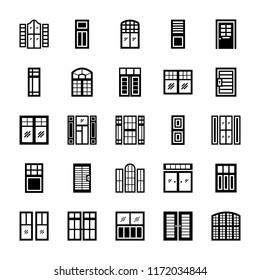 Window shutters set