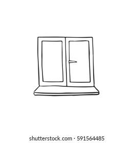 window vector doodle sketch