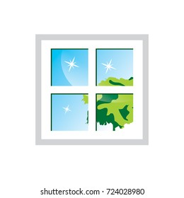 Windows Cleaning Logo, Cleaning Service Logo