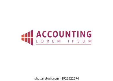 Windows Finance Logo. Business and Accounting Logo design vector icon template