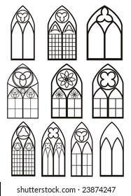 Windows In Gothic Style