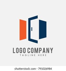 windows logo vector, double door vector abstract, icon of door
