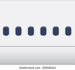 Windows of the white airplane