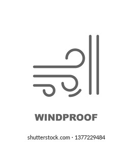 Windproof icon. Element of row matterial icon. Thin line icon for website design and development, app development. Premium icon