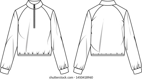 Wind-proof sports jacket vector template