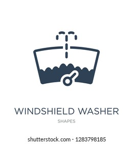 windshield washer icon vector on white background, windshield washer trendy filled icons from Shapes collection, windshield washer vector illustration