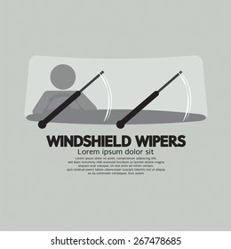 Windshield Wipers Car's Parts Vector Illustration