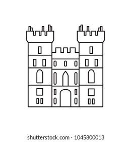 Windsor castle icon. Outline windsor castle vector icon for web design isolated on white background