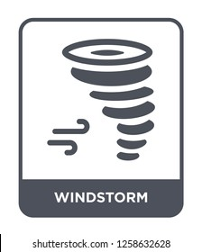 windstorm icon vector on white background, windstorm trendy filled icons from Nature collection, windstorm simple element illustration
