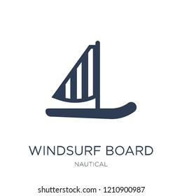 Windsurf Board icon. Trendy flat vector Windsurf Board icon on white background from Nautical collection, vector illustration can be use for web and mobile, eps10