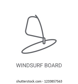 Windsurf Board icon. Trendy Windsurf Board logo concept on white background from Nautical collection. Suitable for use on web apps, mobile apps and print media.