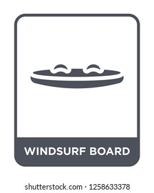 windsurf board icon vector on white background, windsurf board trendy filled icons from Nautical collection, windsurf board simple element illustration, windsurf board simple element illustration