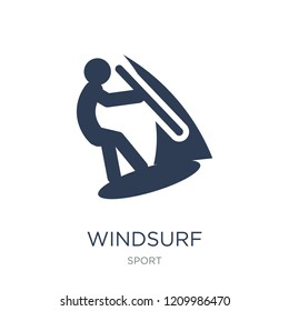 Windsurf icon. Trendy flat vector Windsurf icon on white background from sport collection, vector illustration can be use for web and mobile, eps10