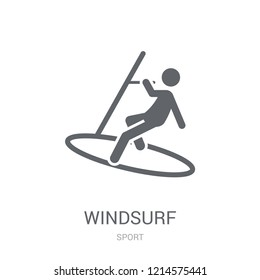 Windsurf icon. Trendy Windsurf logo concept on white background from Sport collection. Suitable for use on web apps, mobile apps and print media.