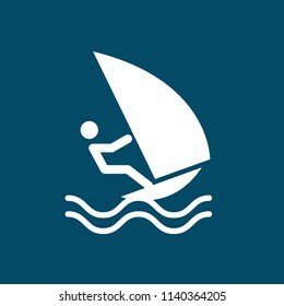 windsurfing, windsurfer icon. water, extreme, sport, surfing, action, surf, sea, sail, sport, wind sign illustration for web and mobile app
