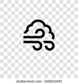 windy icon from miscellaneous collection for mobile concept and web apps icon. Transparent outline, thin line windy icon for website design and mobile, app development