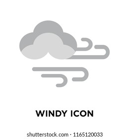 Windy icon vector isolated on white background, Windy transparent sign , weather symbols
