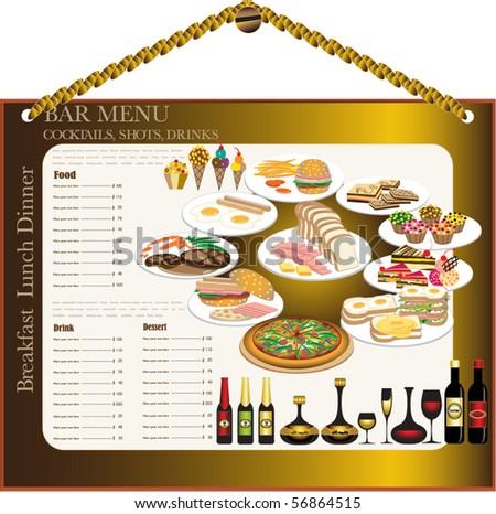 wine bar menu template designs menu stock vector royalty free