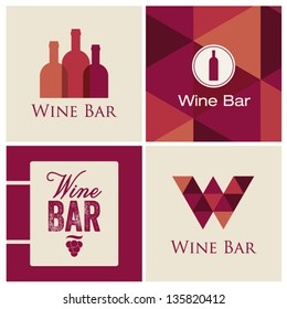 wine bar restaurant illustration