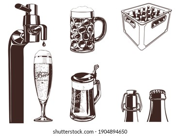 wine bottle with glass vector design