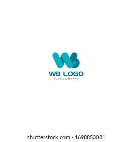 wine bottle grape, letter w, letter b logo design concept