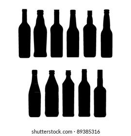 wine bottle sign set
