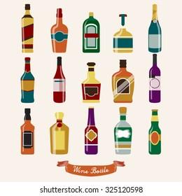 Wine Bottle Vector Design Illustration