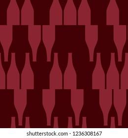 Wine Bottles. Seamless texture with wine.  Design element for tasting, menu, wine list, restaurant, winery, shop. Vector background.