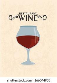 wine design over pink background vector illustration