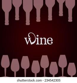 Wine design over red background, vector illustration