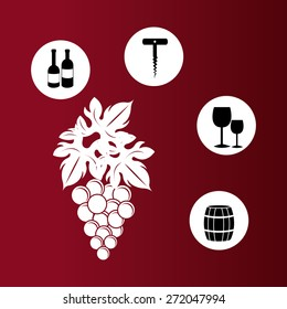 Wine design over white background, vector illustration.