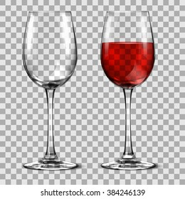 with wine glass