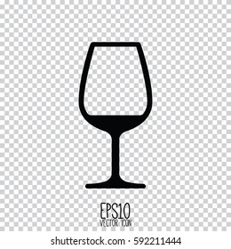 wine glass icon. Flat style for graphic and web design, Modern simple vector sign. Internet concept. Trendy symbol for website design web button, mobile app.