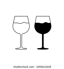 Wine glass icon on a white background