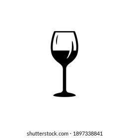 wine glass icon vector glyph style design