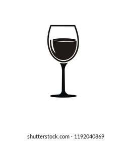 wine glass icon. vector illustration.