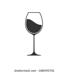 wine glass icon vector sign isolated on white background. wine glass symbol template color editable