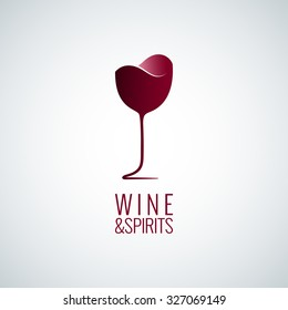 wine glass logo design background