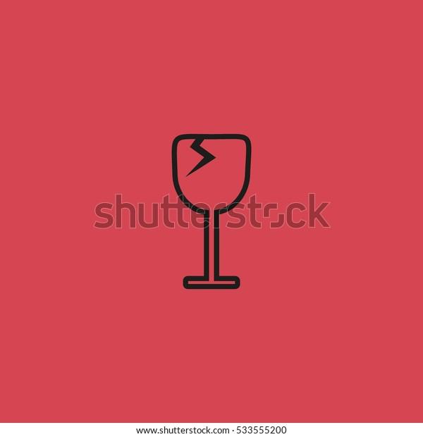 wine glasses, icon