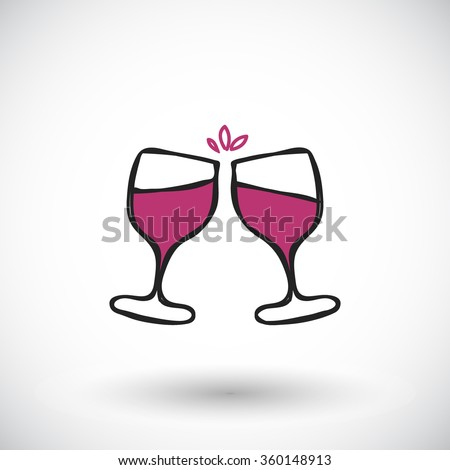 wine glasses sketch handdrawn cartoon wine stock vector royalty rh shutterstock com cartoon wine glass clipart cartoon red wine glass