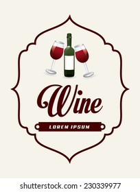 wine graphic design , vector illustration
