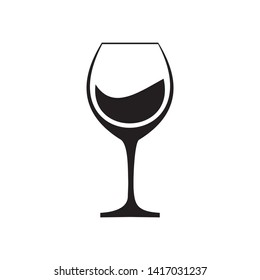 Wine Icon in trendy flat style isolated on black background.