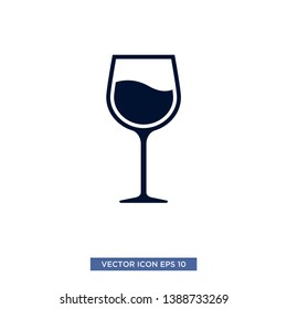 wine icon vector illustration template