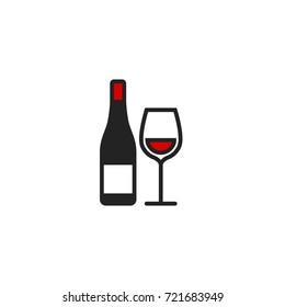 Wine Icon Vector Isolated