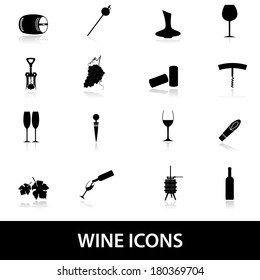 wine icons eps10