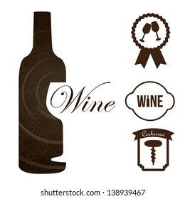wine icons over white background vector illustration