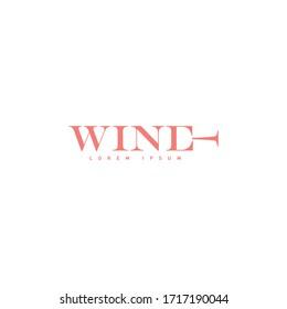 Wine idea creative logotype design