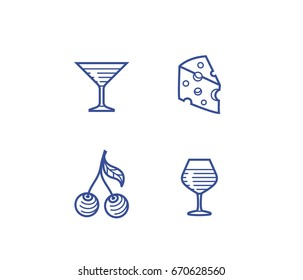 Wine illustration and icon set. Procurement and storage wine vector illustration for badge or logo.