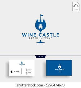 wine kingdom, queen wine elegant logo template vector illustration